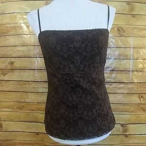 The Limited brown lace lined cami top